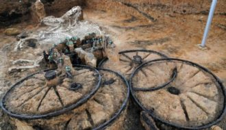 2,500-Year-old Chariot Discovered with Driver And Horses