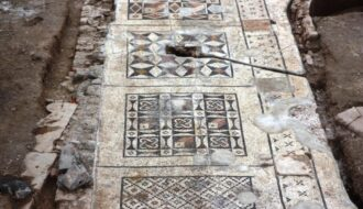 Enormous Roman Mosaic Found Under Farmer's Field