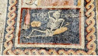 "Cheery Skeleton Mosaic Found in Turkey Says, ""Enjoy Your Life"""