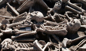 Archaeologists find 60 Roman burials in Lincolnshire field - one skeleton is even buried with a leg of lamb
