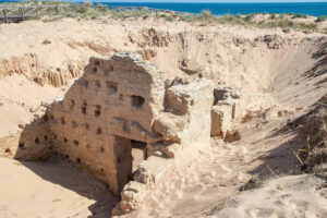 Roman Baths Emerge From Sand Dunes Of Southern Spain