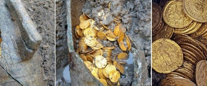 Hundreds Of Roman Gold Coins Found In Theater Basement